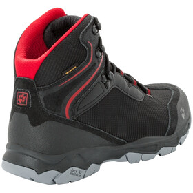Jack Wolfskin Rock Hunter Texapore Mid-Cut Schuhe Herren black/red